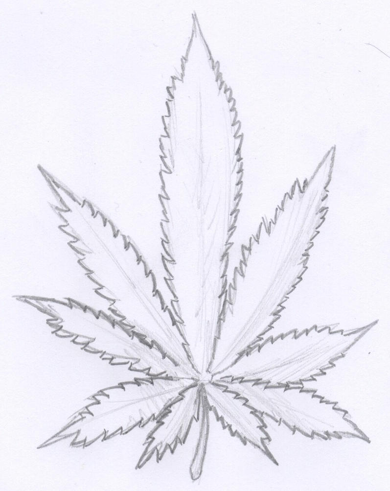 Cool Weed Leaf Drawings Cool pot leaf drawings