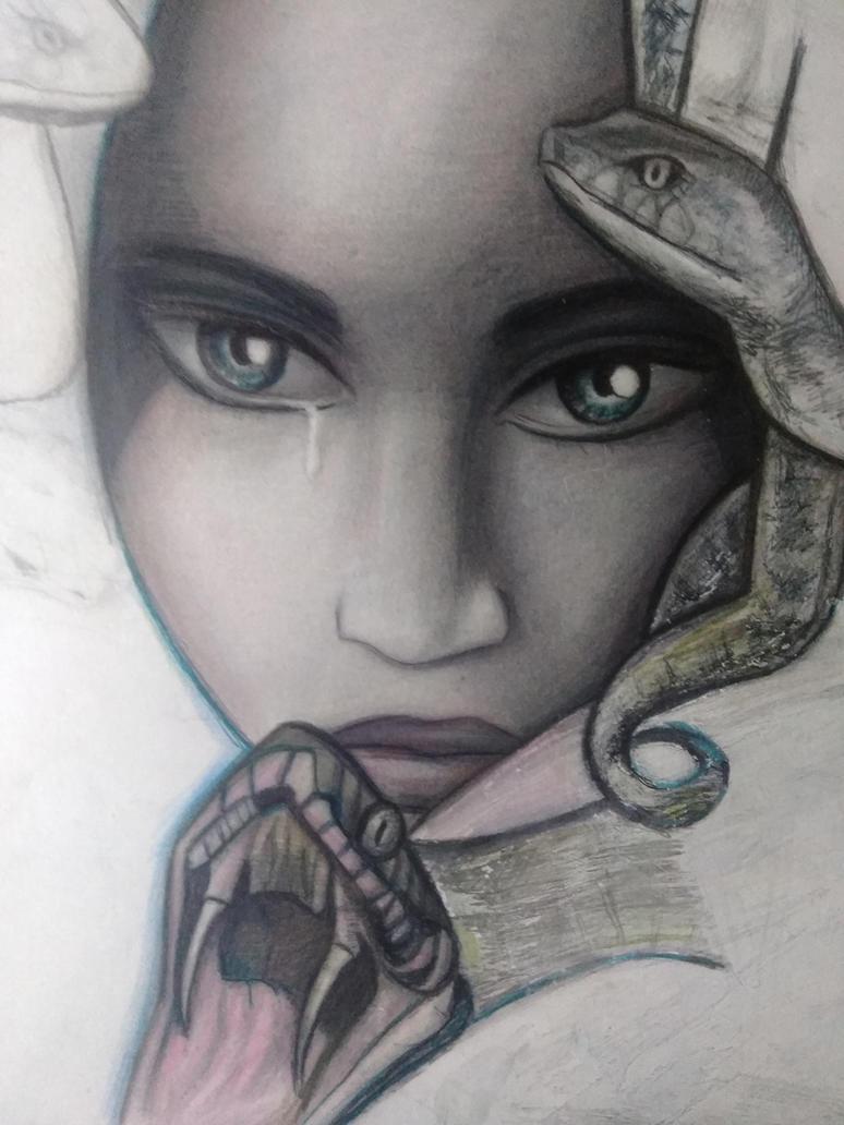 Medusa WIPs by Roxy-the-art-nut