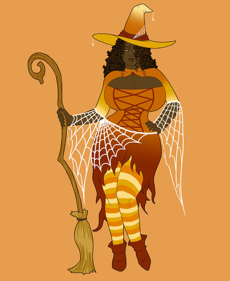 Angela the Halloween Witch by TheJiggly by Chwen-Hoou