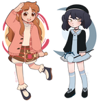 Casual Magic girls Adoptables(2/2 OPEN/SET PRICE) by ImaniAsh