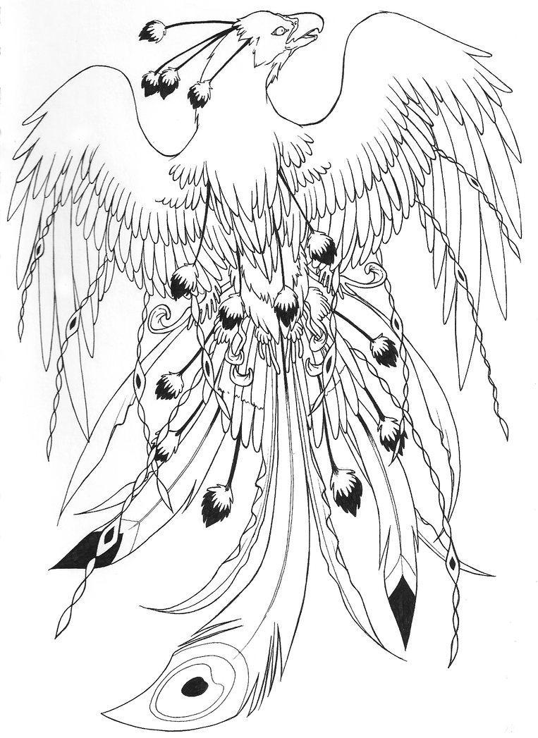 Image Result For Rising Phoenix Coloring