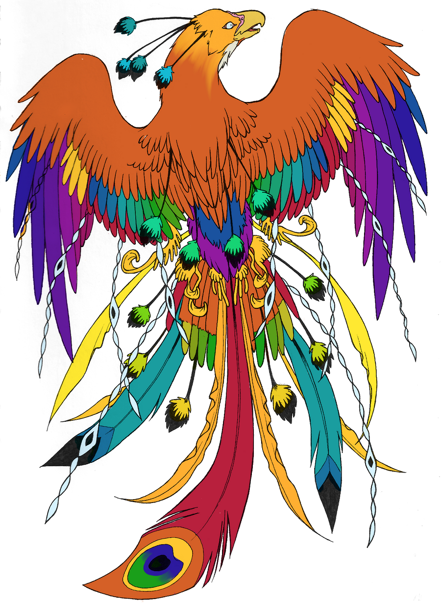 Phoenix Again Colored By Kissy Face On DeviantArt