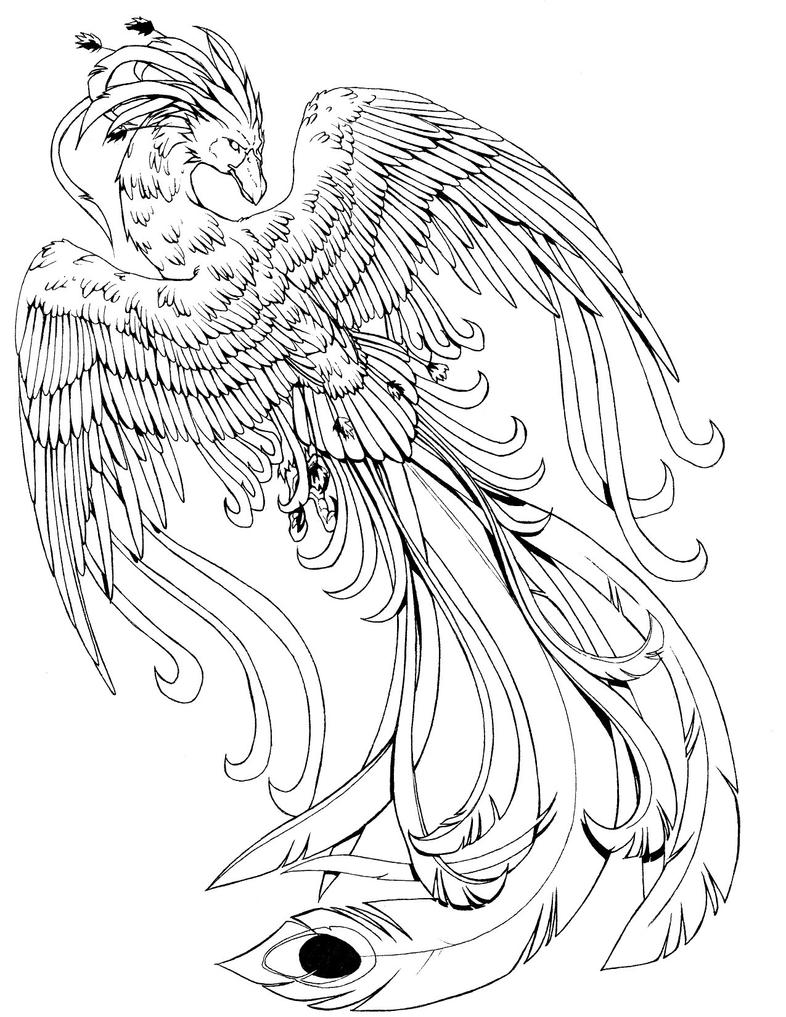 Phoenix B/W by kissy-face
