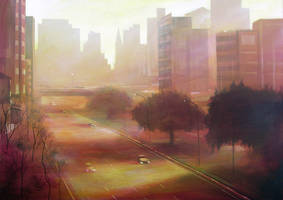 city at dawn by gregoriogruber