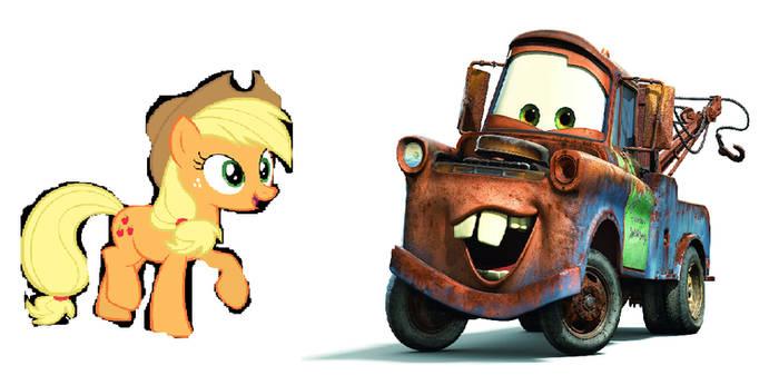 Mater and Applejack