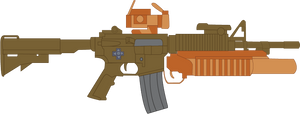 Button Mash's M4 with M203