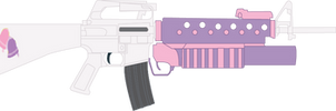 Sweetie Belle's M16A1 with M203 grenade launcher