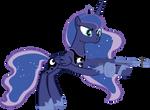 Princess Luna with her Thompson by Stu-artMcmoy17
