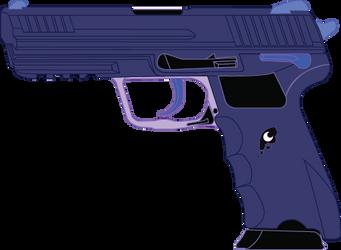 Princess Luna's HK45 pistol by Stu-artMcmoy17