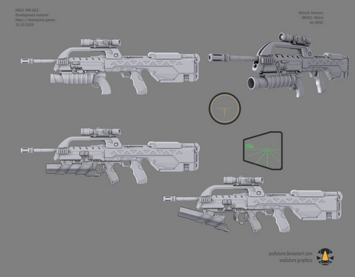 Halo: Far Isle XM301 40mm concept sheet 1