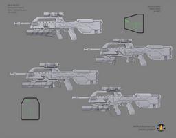 Halo: Far Isle XM301 40mm concept sheet 2