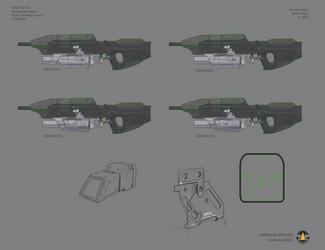 Halo: Far Isle XM301 40mm concept sheet 4