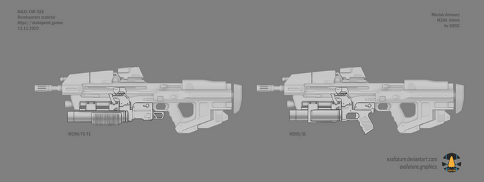Halo: Far Isle M299 40mm concept sheet 1