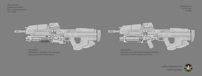 Halo: Far Isle M299 40mm concept sheet 2