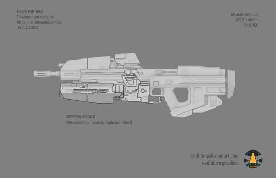 Halo: Far Isle M299 40mm concept sheet 3