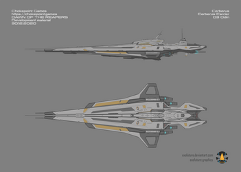 Mass Effect: Dawn of the Reapers Cerberus Carrier by Exofuture