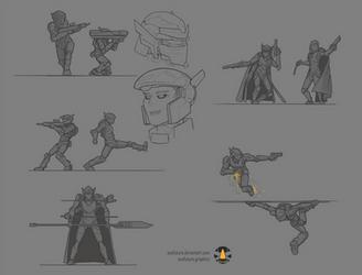 Jiangshi/Huskarl combatives sketches