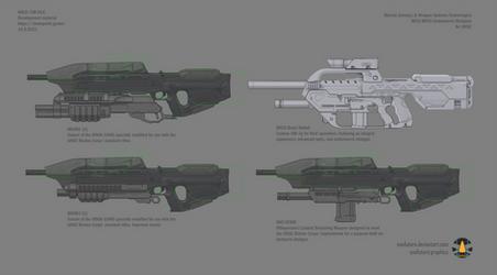 Halo: Far Isle BR55 and MA5 underbarrel shotguns