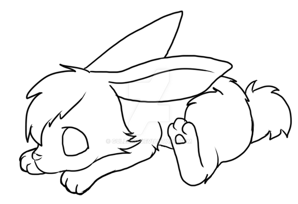 Line Drawing Bunny : Rabbit lineart by gullsko on deviantart