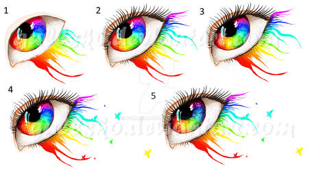 MS Paint Rainbow eye process pictures