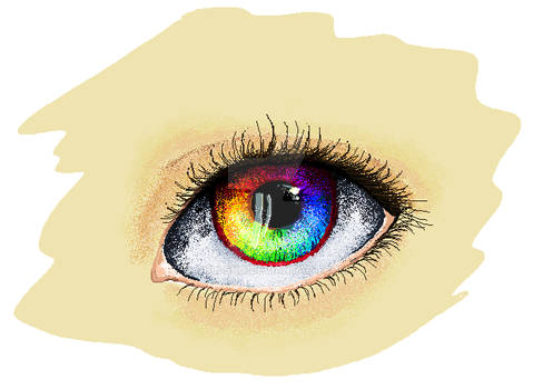 MS paint eye doodle