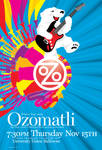 Ozomatli illustration and type