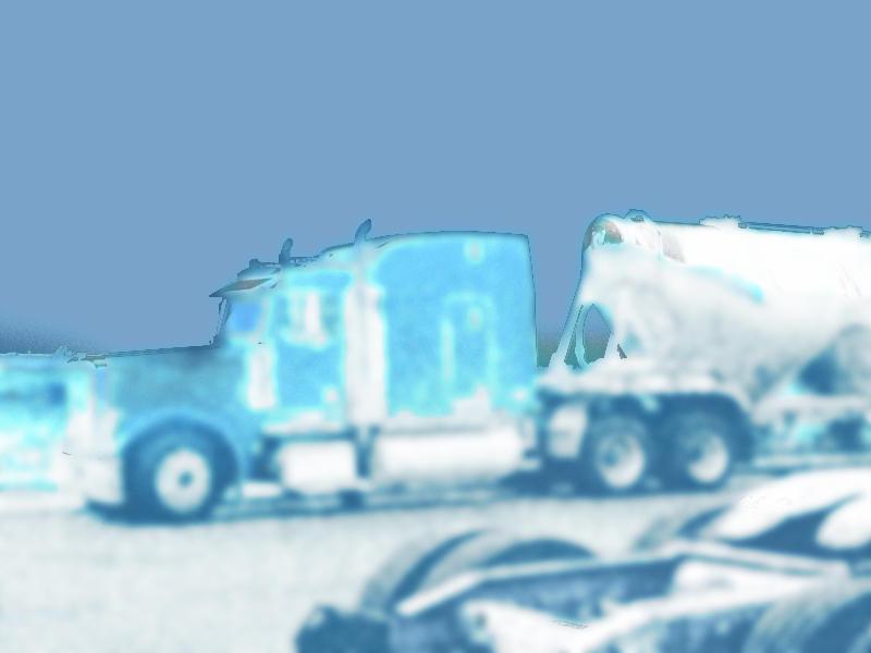 blue truck by kenji2030