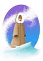 *il neige!!!* *sortez le champagne !* (vous inquiétez pas, voui, vu la température extérieur, il est frais !)  Voici (enfin) Myo dans son monde de glace !