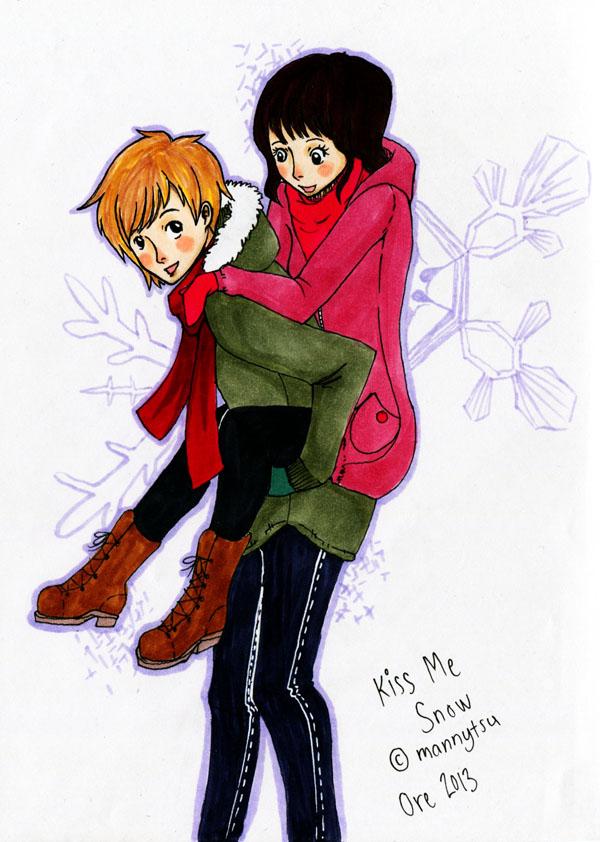 Fanart: Kiss me Snow Keiji and Asami by OOrenji