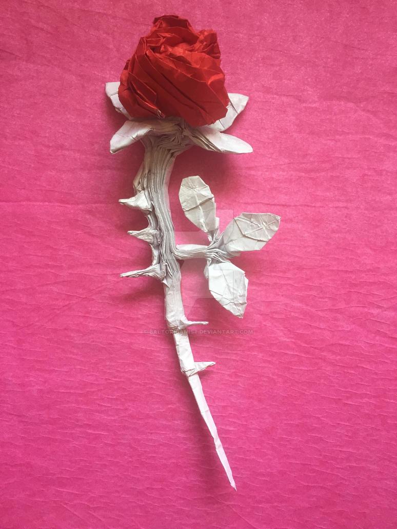 One Sheet Rose Final By Baltorigamist On Deviantart