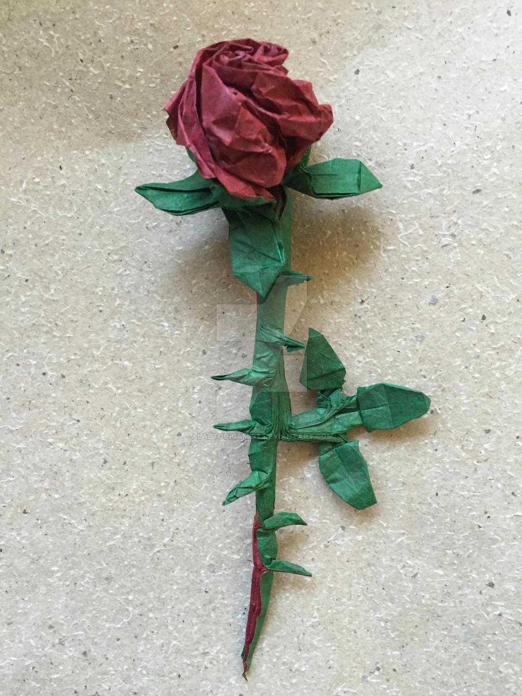One Sheet Rose V21 By Baltorigamist On Deviantart
