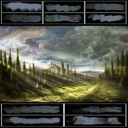 Glassthroughskin Brush Set 2 - Textured by glassthroughskin