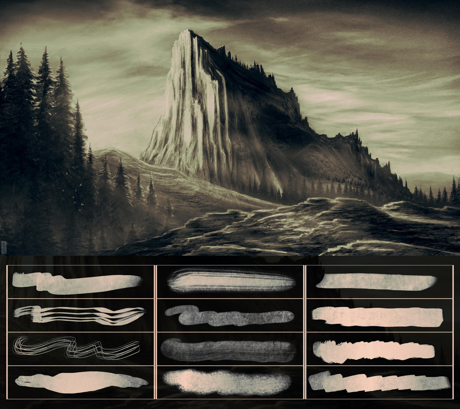 Glassthroughskin Brush Set 5 - Textured by glassthroughskin
