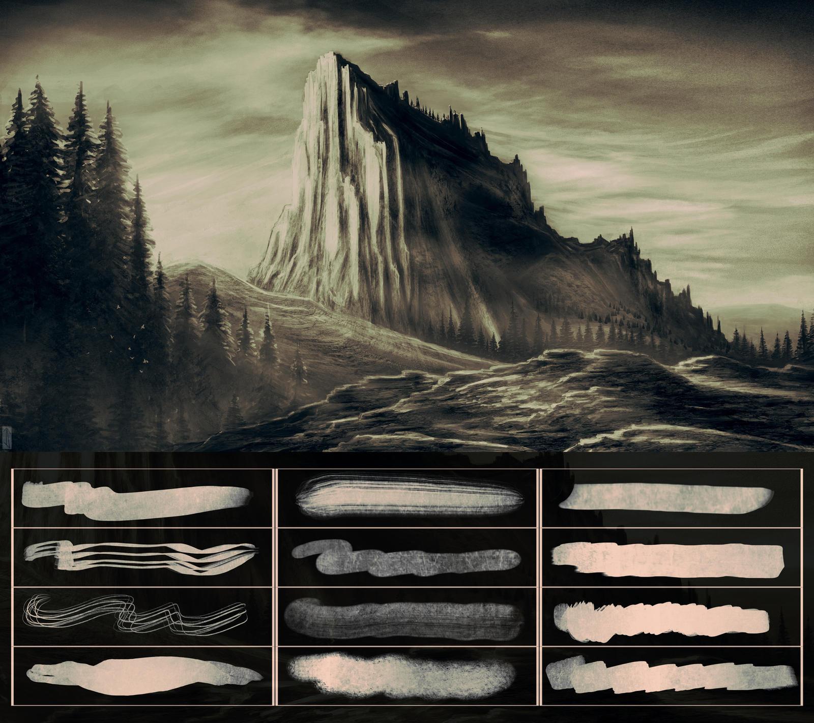 Glassthroughskin Brush Set 5 - Textured by glassthroughskin