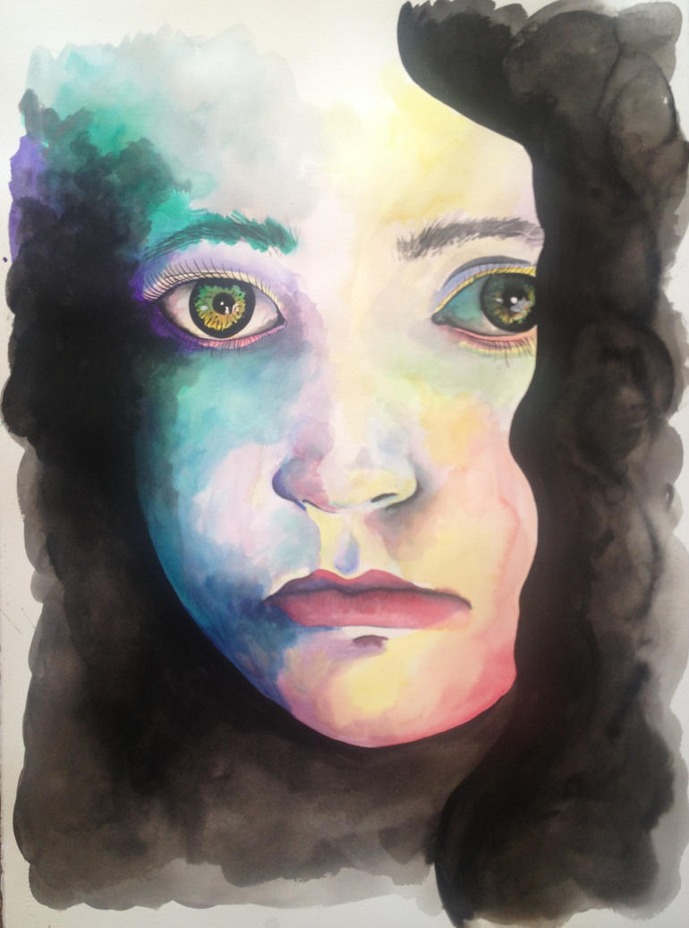 Sad Eyes Watercolor Painting by LordColinOneal on DeviantArt  Sad Paintings
