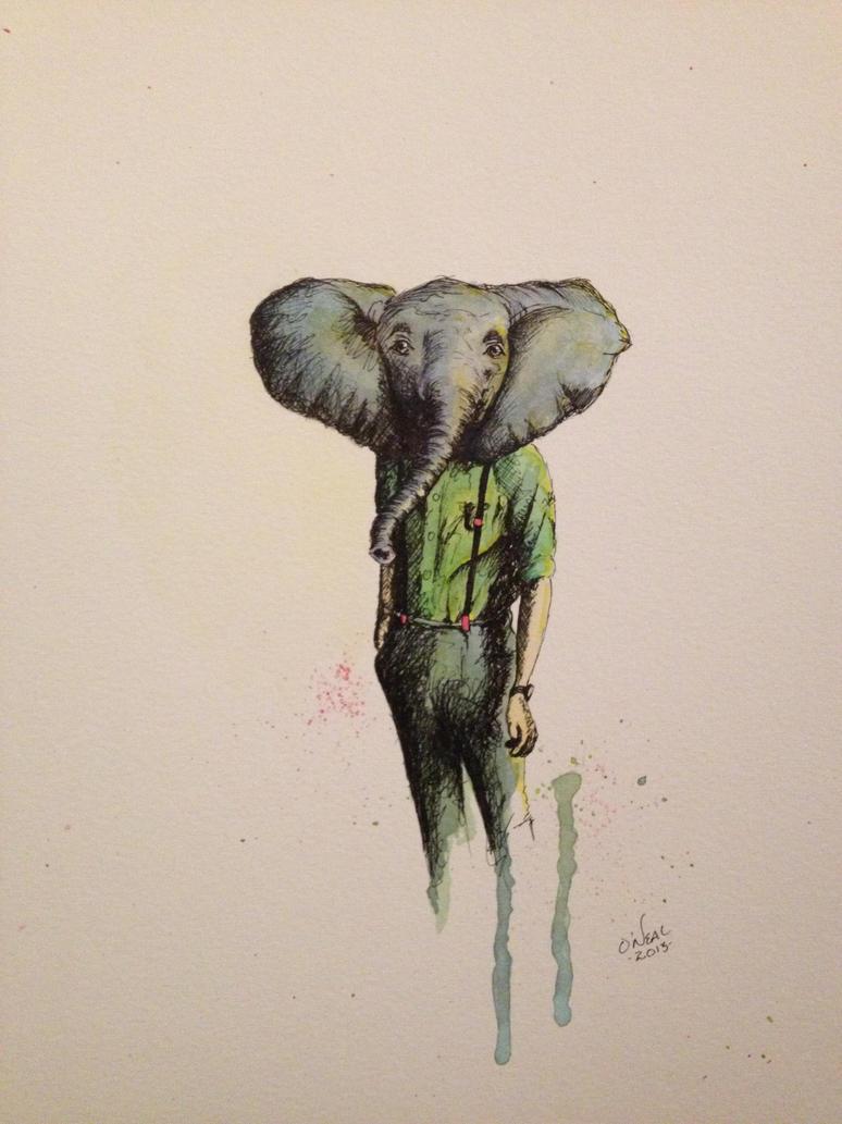 elephant in casual wear by lordcolinoneal on deviantart