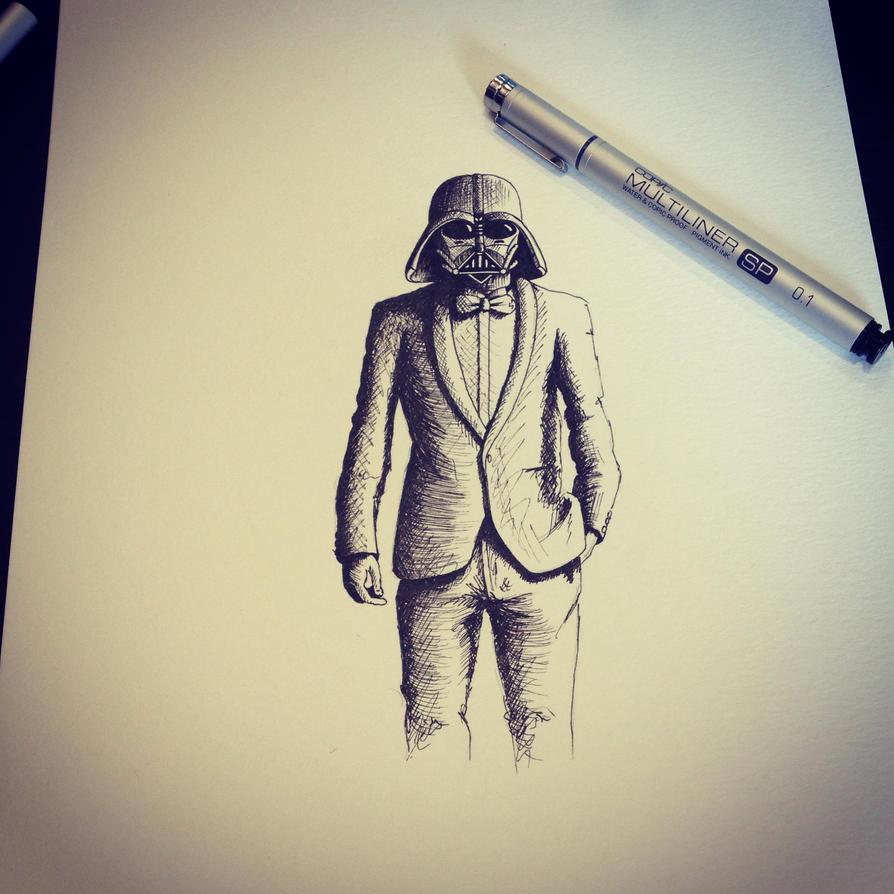 Darth Vader Sketch by LordColinOneal on DeviantArt