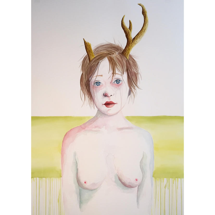 Girl with Antlers IV by LordColinOneal