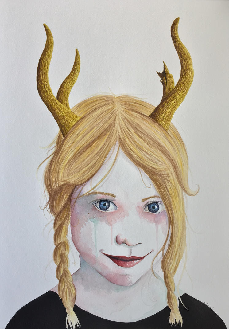 Girl with Antlers V by LordColinOneal
