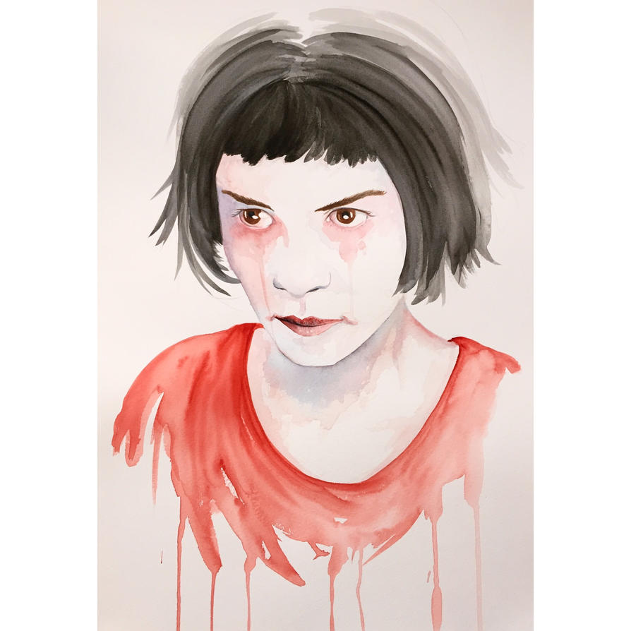 Amelie Watercolor (Audrey Tautou) by LordColinOneal