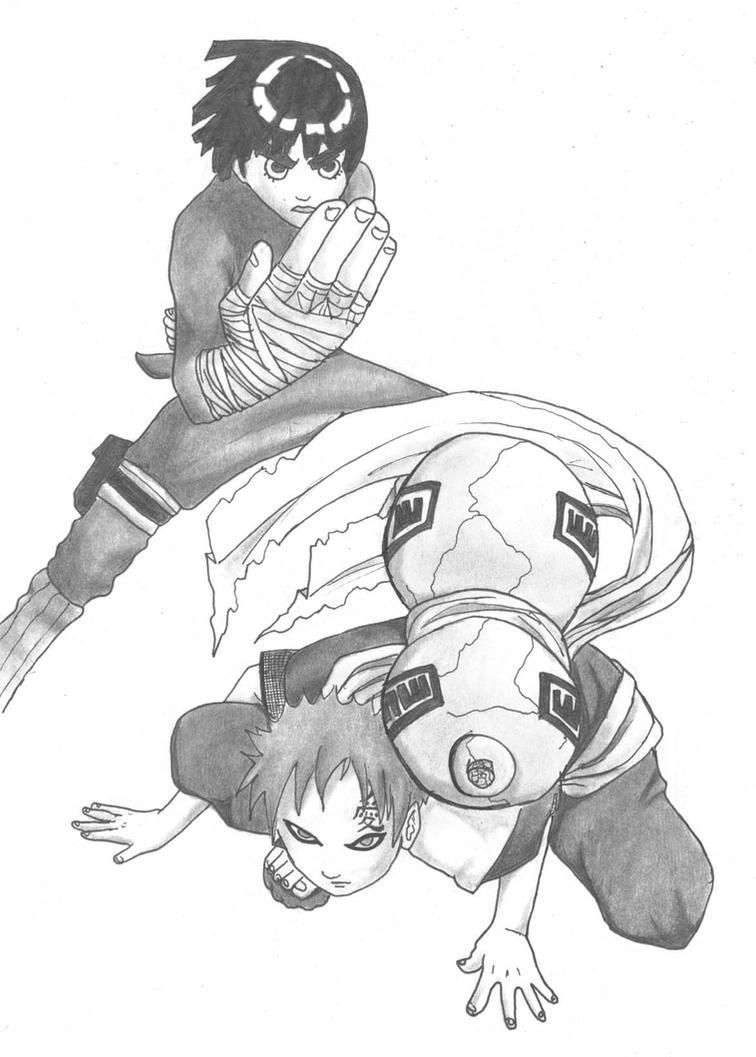 rock lee and gaara by tama-chan220 on DeviantArt