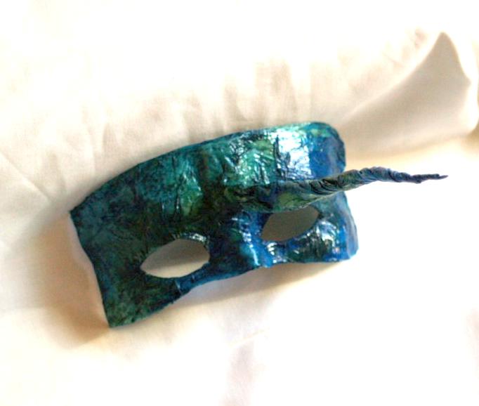Turquoise Unicoen mask by dovespirit