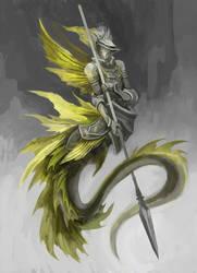 Mermaid knight by Sirmaril