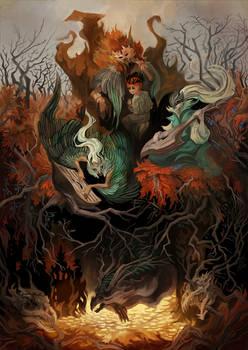 Autumn fairy tales of elfs