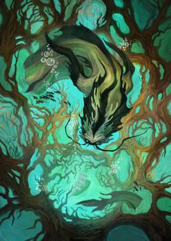 Autumn fairy tales of lakes