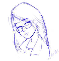 Cute manga smile, sketch by Torbak