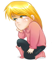 Sad Chibi Girl by Torbak