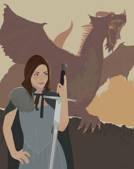 Girl with Dragon Pet