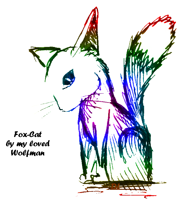 Dessins et photos... A_fox_cat_by_my_loved_wolfman_by_laeranh