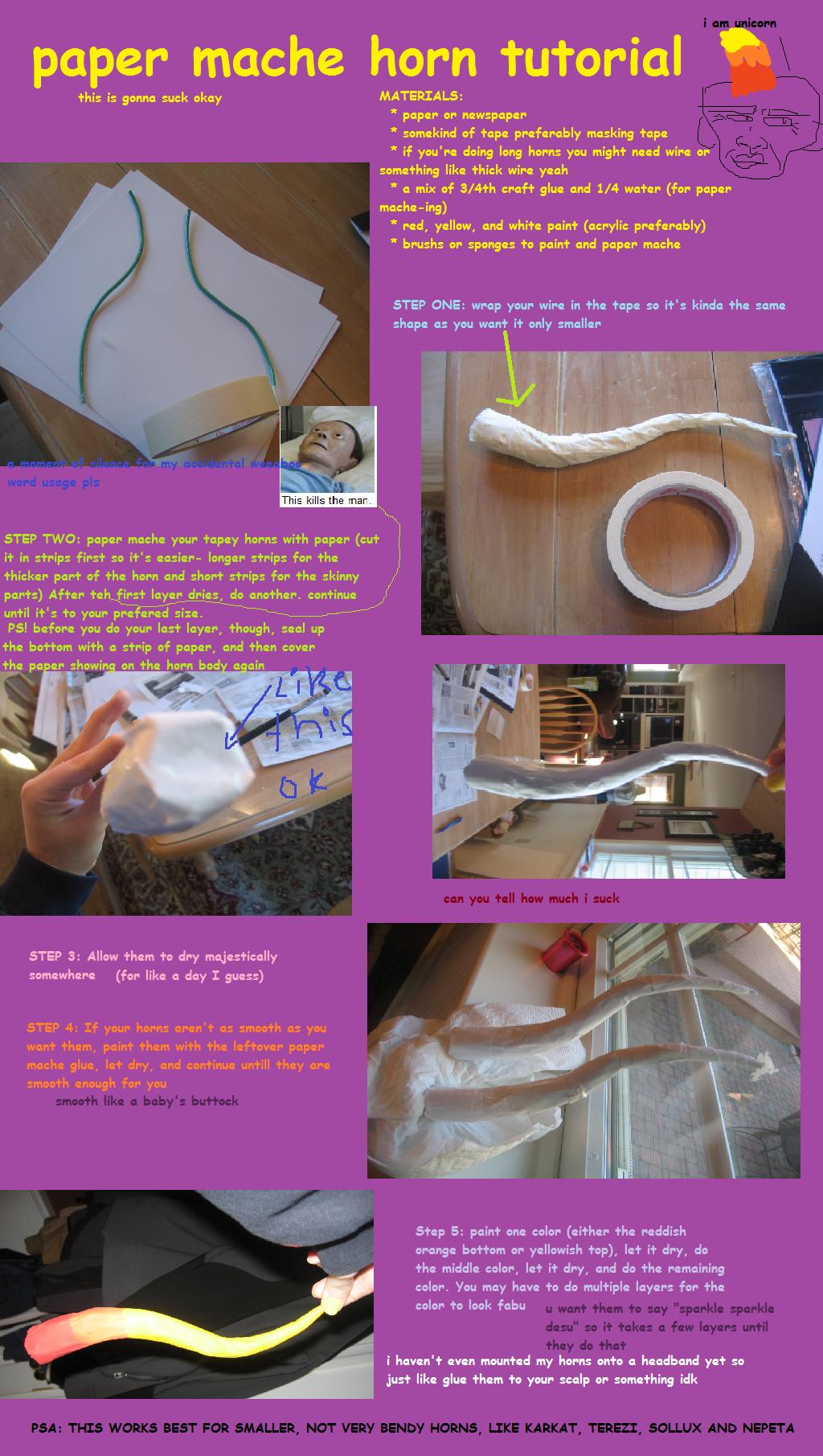 Paper Mache Horn Tutorial